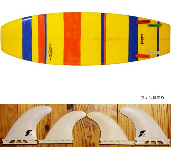 PEARTHサーフボード クラッシックモデル FUNNY 5`8 中古ミニボード fin/option No.96291421