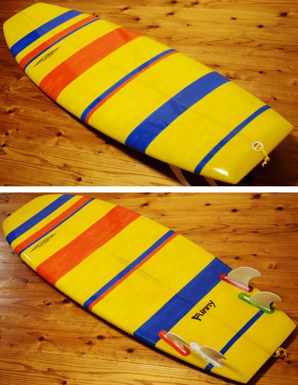 PEARTHサーフボード クラッシックモデル FUNNY 5`8 中古ミニボード deck/bottom No.96291421