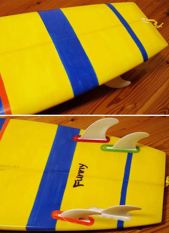 PEARTHサーフボード クラッシックモデル FUNNY 5`8 中古ミニボード tail No.96291421