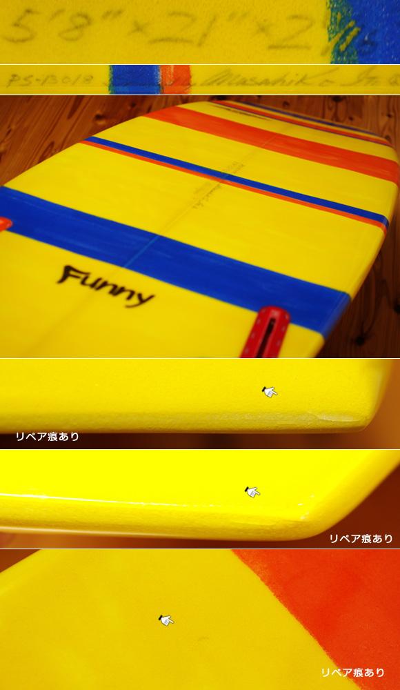 PEARTHサーフボード クラッシックモデル FUNNY 5`8 中古ミニボード condition No.96291421