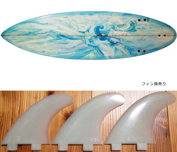 AZサーフボード 中古ショートボード 6`0 Custom fin/option No.96291424