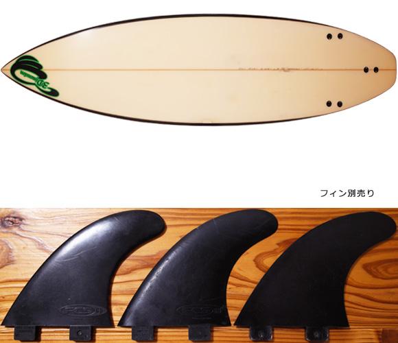3Dimension 中古ショートボード 5`10 LA fin/option No.96291429