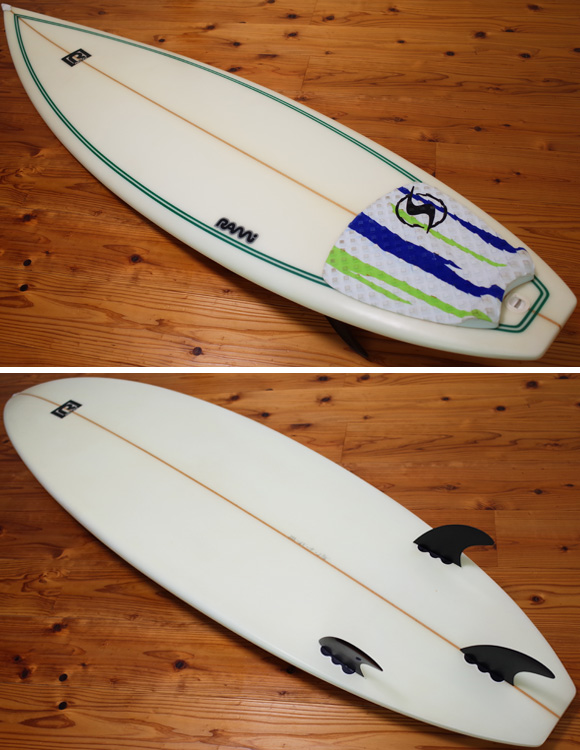 RAMi SURFBOARD 中古ショートボード 6`3 deck/bottom No.96291431