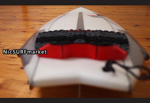 アルメリック TWIN FIN FUSION DUAL CORA 5`4 中古ショートボード deck-detail No.96291433