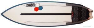 アルメリック TWIN FIN FUSION DUAL CORA 5`4 中古ショートボード deck-zoom No.96291433