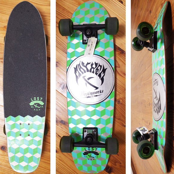 "LOST SURFSKATES  QUBERT 32"" SS 610 中古スケートボード deck/bottom No.96291445"