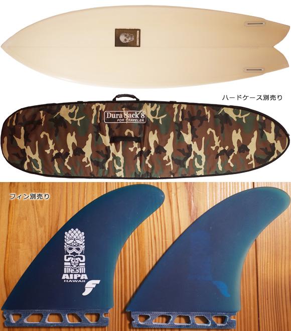 クリステンソン サーフボード TWIN FISH 6`1 中古 fin/ハードケース No.96291447