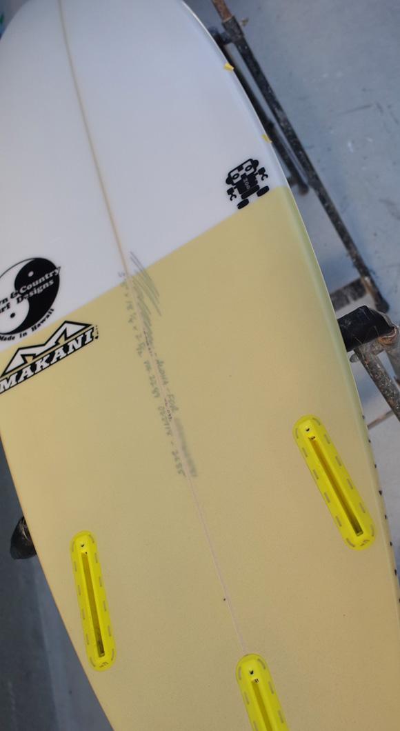「仕入れ情報」T&C タウンアンドカントリーサーフボード H・MOD 5'8の中古サーフボード入荷 bottom