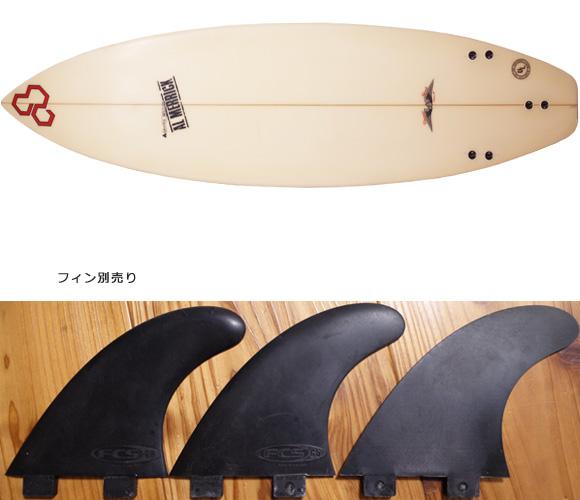 アルメリック Flyer-F 中古ショートボード 5`10 小波モデル fin/option No.96291448