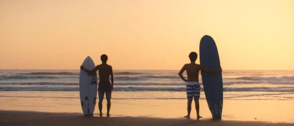 宮崎-リラックス・サーフタウン日向 「ヒュー日向」PR動画 Net surfer becomes Real surfer  エンディング