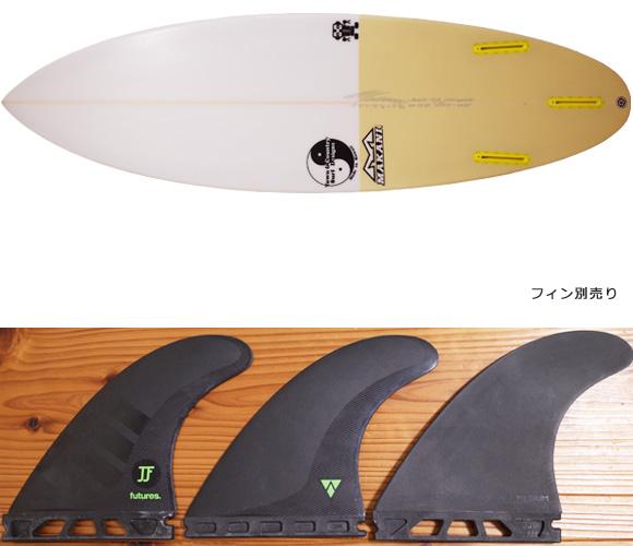 T&C タウンアンドカントリーサーフボード H・MOD 中古ショートボード 5`8 fin/option No.96291451