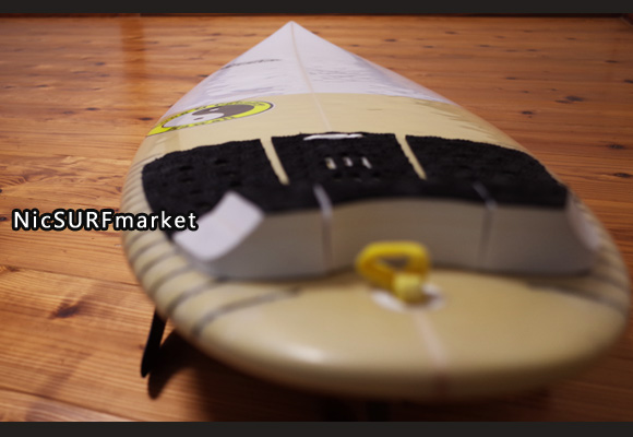 T&C タウンアンドカントリーサーフボード H・MOD 中古ショートボード 5`8 deck-detail No.96291451