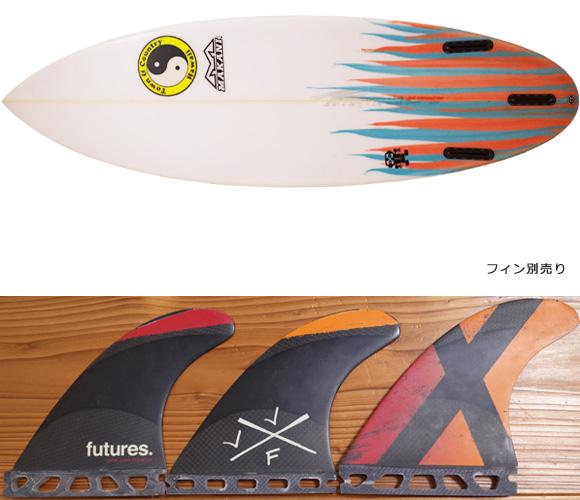 T&C タウンアンドカントリーサーフボード H・MOD 中古ショートボード 5`6 fin/option No.96291452