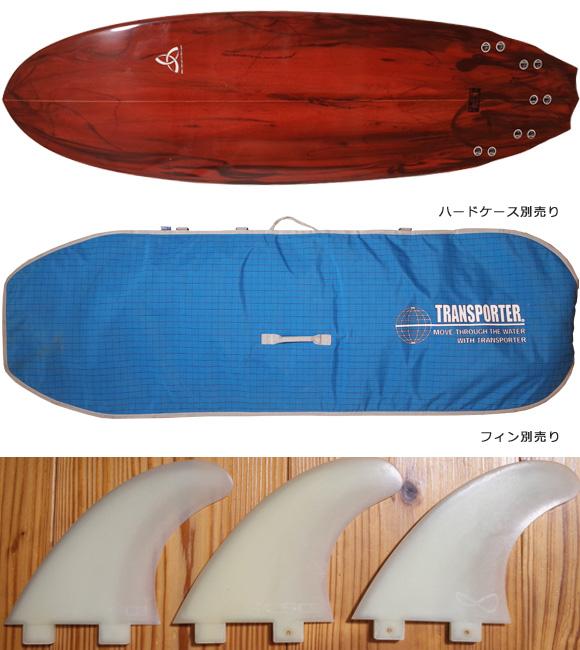ASDサーフボード ABE 中古ファンボード 6`4 fin/ハードケース No.96291455