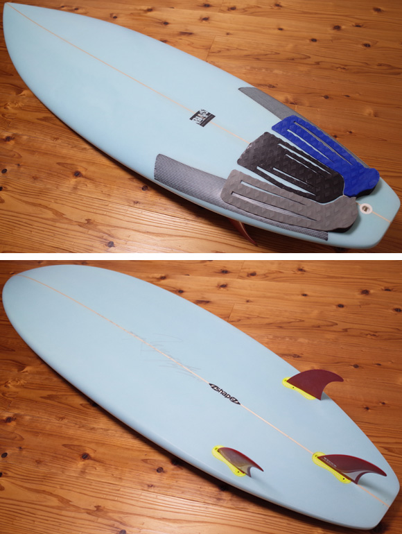 A-shape BLUE WALL Surfboard AN-TIモデル 中古ショートボード 6`0 deck/bottom No.96291459