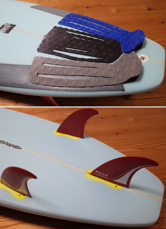 A-shape BLUE WALL Surfboard AN-TIモデル 中古ショートボード 6`0 tail No.96291459