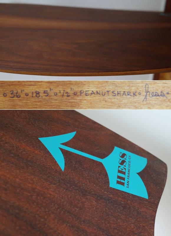 Hess ヘスサーフボード 36 Peanut Shark ボディボード condition No.96291473