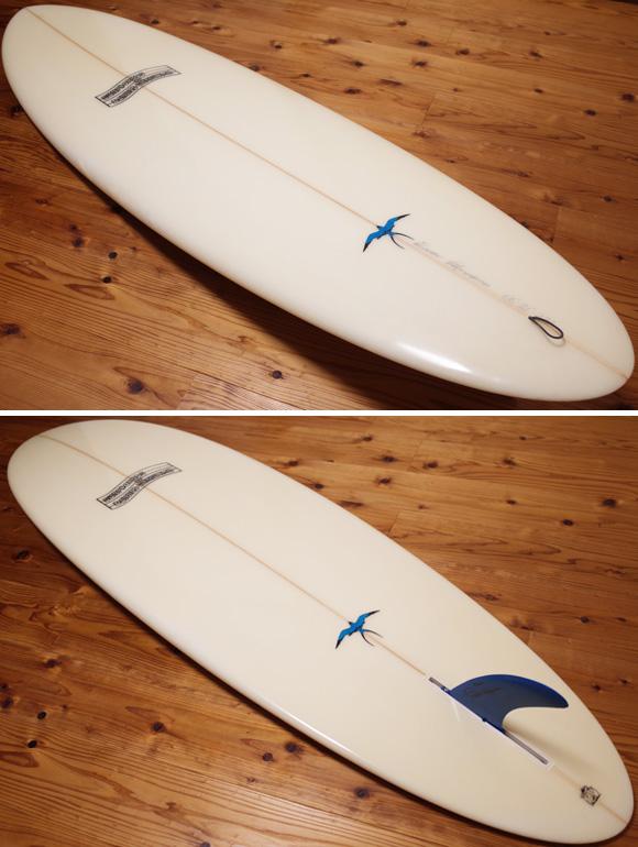 ドナルドタカヤマ Flow Egg フローエッグモデル 6`6 中古サーフボード deck/bottom No.96291474
