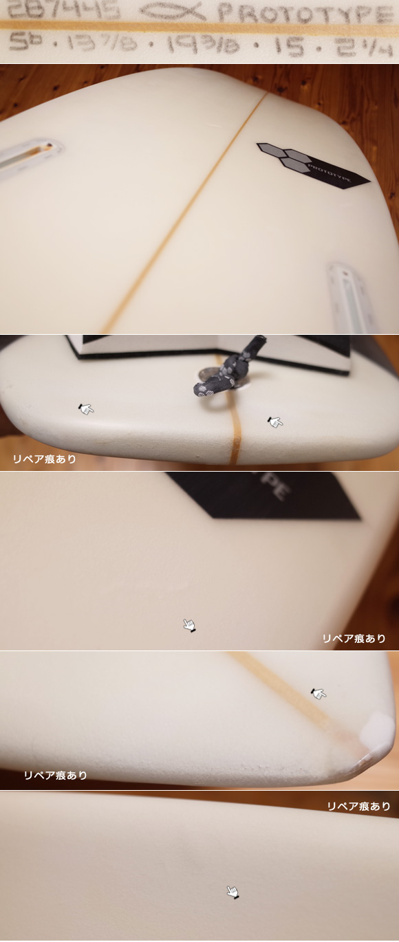 Channel Islands Surfboards PROTOTYPE 中古ショートボード 5`6  condition No.96291483