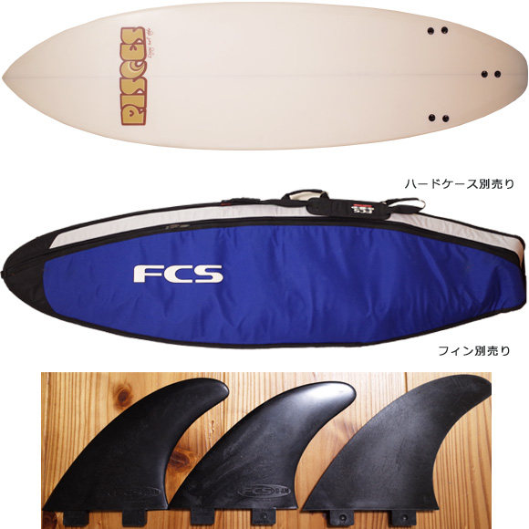 PISCES 中古ファンボード 6`6 fin/ハードケース No.96291264