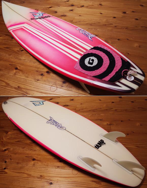 ジャスティスサーフボード T2 BUMP 中古ショートボード 6`0 deck/bottom No.96291484