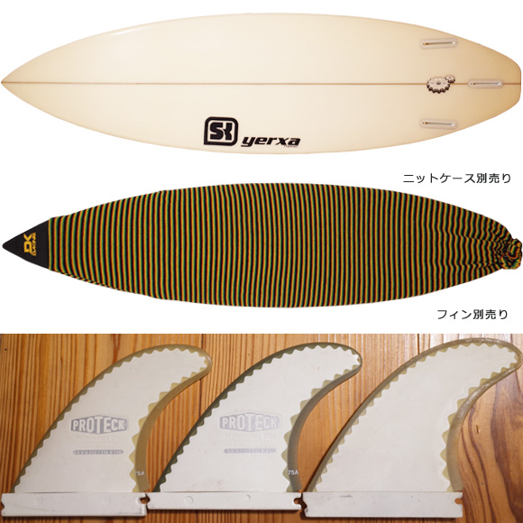 SK SURFBOARD SK06 中古ショートボード 6`4 fin/ニットケース No.96291485