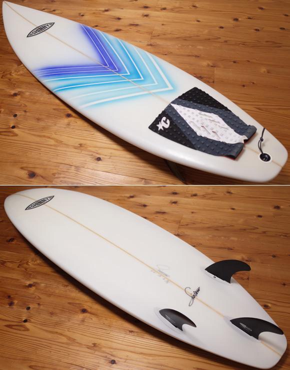 SHINTAROW SHAPES SHINNYサーフボード 中古ショートボード 6`3 deck/bottom No.96291489