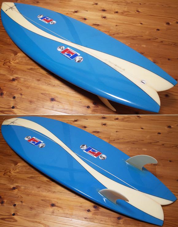 ハワイアンプロデザイン ドナルドタカヤマ / LARRY BERTLEMANN  中古TWIN FIN 5`6 deck/bottom No.96291493
