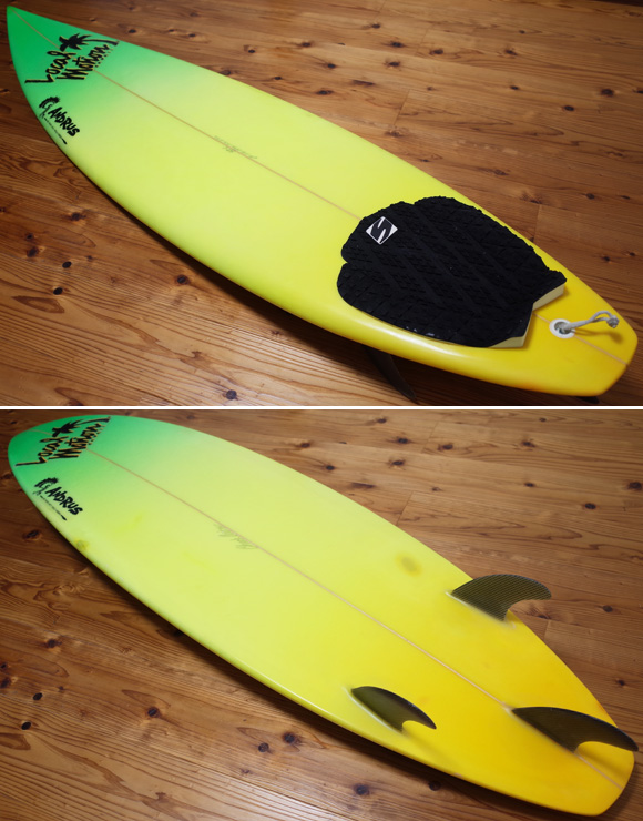 Local Motion 90's ANDRUSシェイプ 中古ショートボード 6`4 deck/bottom No.96291498