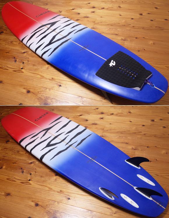 CLOSER クローサーサーフボード  中古ファンボード 7`3 deck/bottom No.96291509