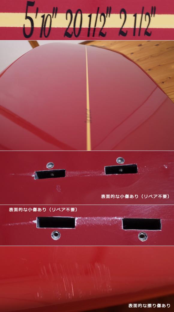 ホワイトエンジェルサーフボード  ビーチウォーカー 中古ショートボード 5`10 condition-1 No.96291510