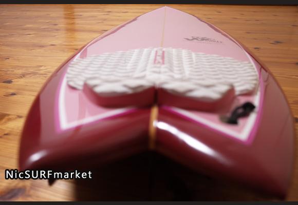 ホワイトエンジェルサーフボード  ビーチウォーカー 中古ショートボード 5`10 deck-detail No.96291510