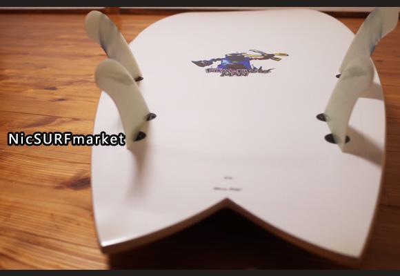 プレセボ ゴーキンモデル AARON CORMICAN クアッドフィッシュ 中古ショートボード 6`2 bottom-design No.96291511