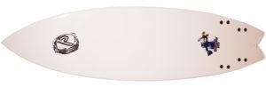 プレセボ ゴーキンモデル AARON CORMICAN クアッドフィッシュ 中古ショートボード 6`2 bottom-zoom No.96291511