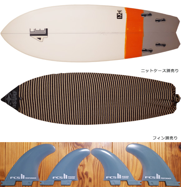 4L FOR LIFE SURFBOARDS RDS 中古ショートボード 5`6 fin/ニットケース No.96291514