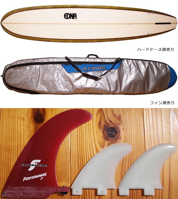 EDNA エドナサーフボード 中古ロングボード 9`1 fin/ハードケース No.96291521