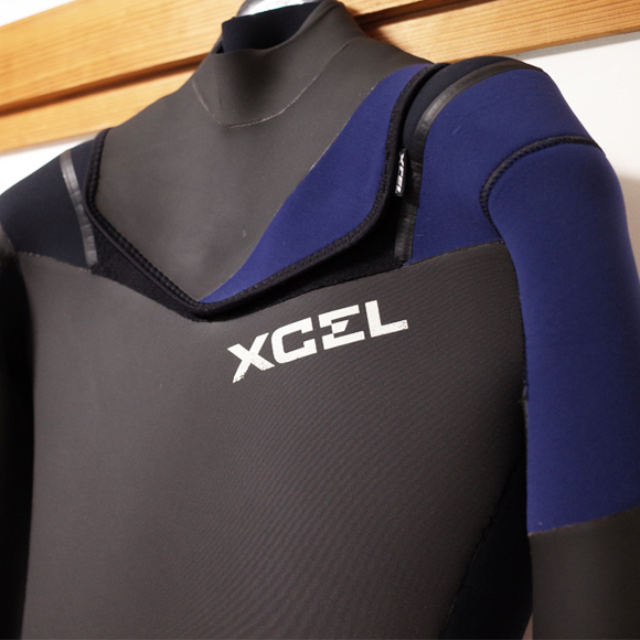 XCELウェットスーツ 中古 5/3mm セミドライ メンズ front upper No.96291522