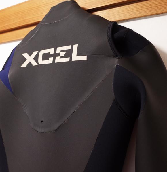 XCELウェットスーツ 中古 5/3mm セミドライ メンズ back upper No.96291522