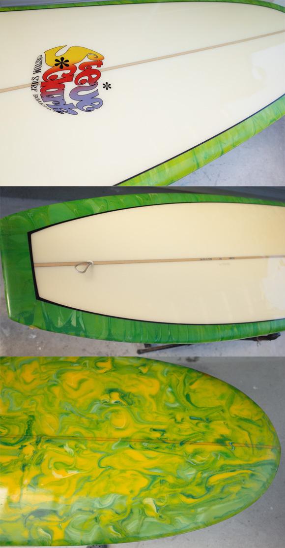 「仕入れ情報」Steve Clark Customサーフボード 中古ロングボード 9`6 deck/bottom