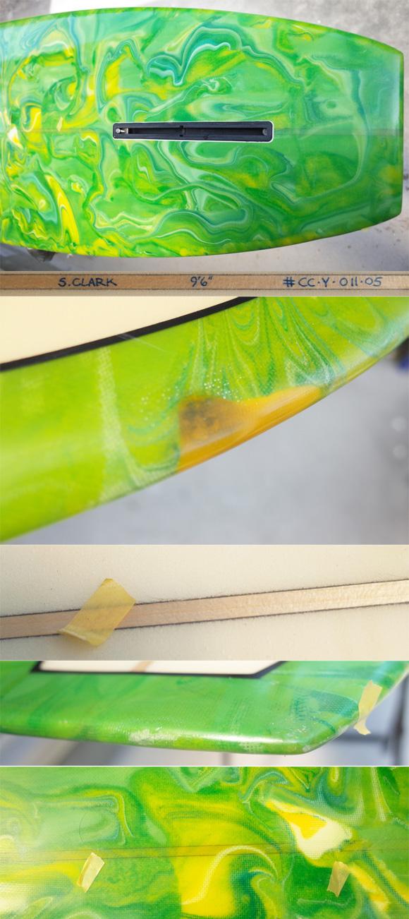 「仕入れ情報」Steve Clark Customサーフボード 中古ロングボード 9`6 condition