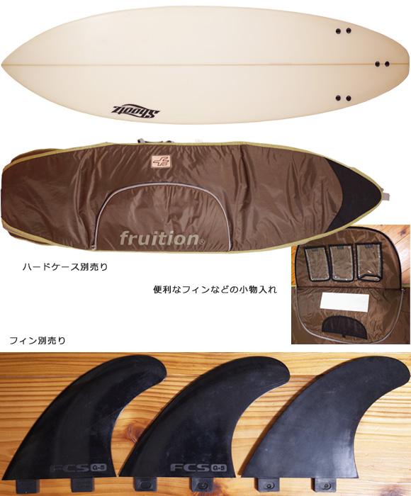 Shootzサーフボード 中古ショートボード 6`4 FIRST 初心者 fin/ハードケース No.96291526