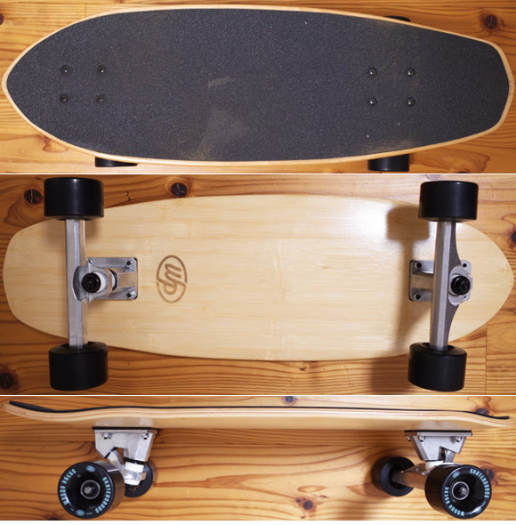 Woody Press 中古スケートボード  bamboo28 CARVING MODEL deck/bottomu/side-detail No.96291559