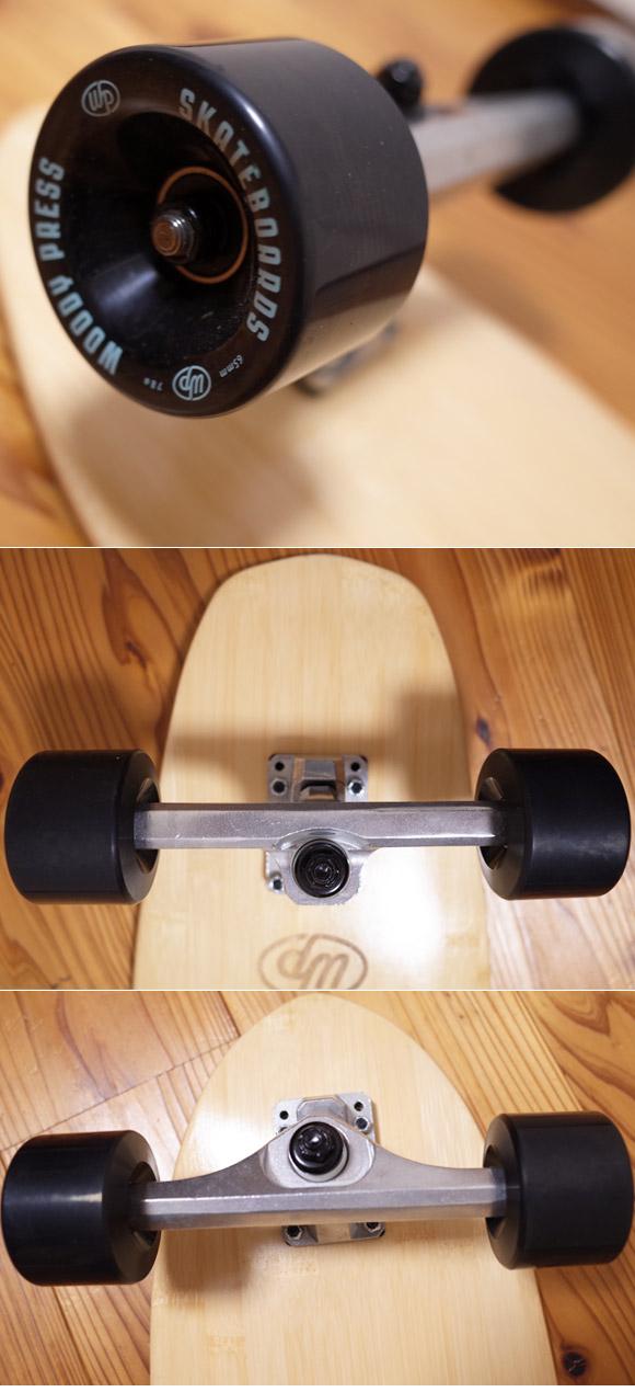 Woody Press 中古スケートボード  bamboo28 CARVING MODEL ウィールコンディション No.96291559