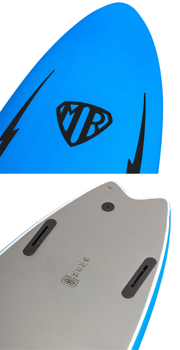 """MR TWIN FIN EZI RIDER SOFT 5'6"""" ソフトボード / マークリチャーズ カラー:ブルー「新品」"""