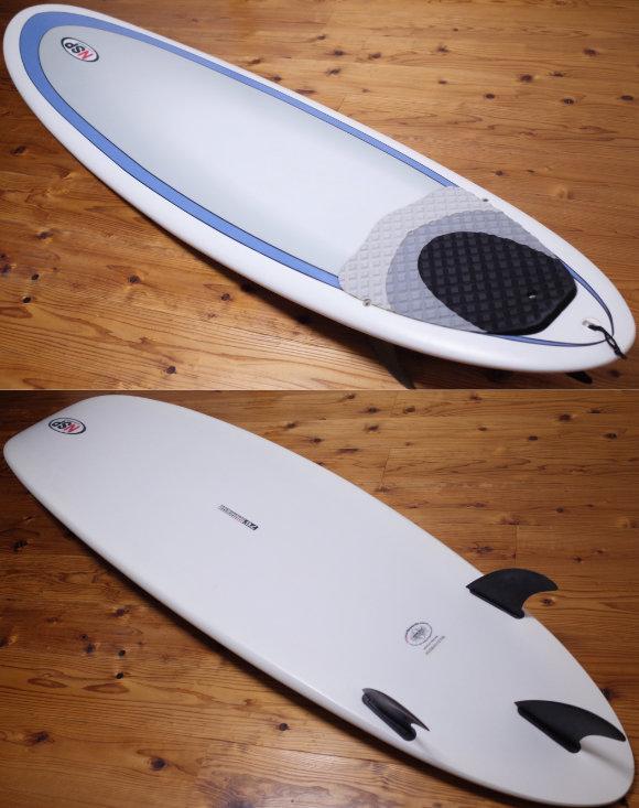 NSPサーフボード 中古ファンボード 7`6 EPOXY deck/bottom No.96291587