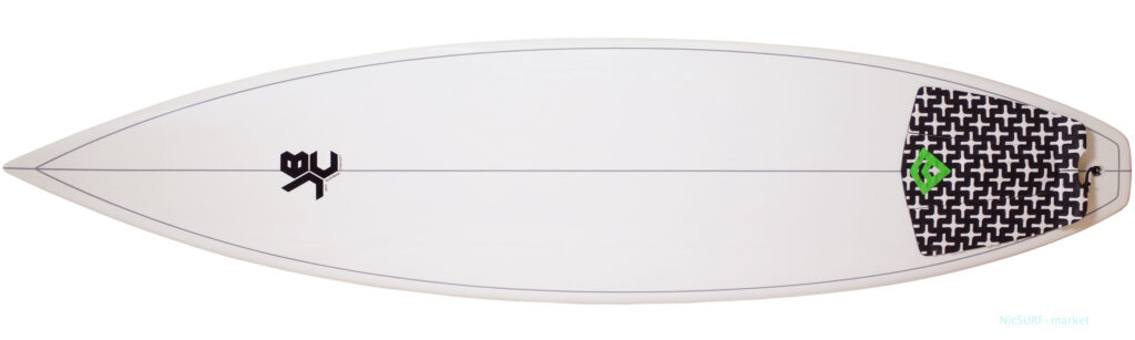 JBC ジェッフブッシュマンコセンプト 中古ショートボード 6`5 EPOXY deck-zoom No.96291590