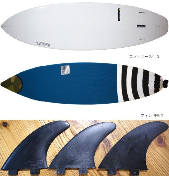 THREE WEATHER PERFORMER 中古ショートボード 6`6 fin/ニットケース No.96291594