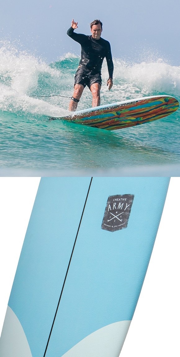 OCEAN&EARTH ソフトボード THE GENERAL EPOXY SOFT 8'6 SKY BLUE/MULTI CREATIVE ARMY  ソフトデッキ素材